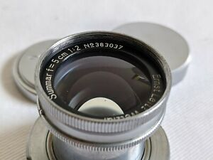Leica Collapsible Summar 50mm f2 LTM M39 Screw Mount *** PERFECT GLASS ***