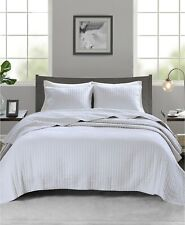 Madison Park Full/Queen Coverlet Set Keaton 3 Piece Quilted White T96192