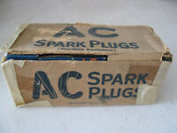 Box (10) Antique AC Sparks Plugs in Wartime Original Box NOS
