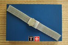 NOS 22MM SS HEAVY MESH DEPLOYMENT WATCH BAND WATCHBAND BRACELET STRAP FOR TISSOT