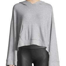Cupcakes and Cashmere Cropped Long-Sleeve Hoodie Sweatshirt Crop Top Size Large