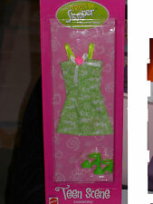1998 TEEN SKIPPER SISTER OF BARBIE LIME GREEN DRESS FASHION #68028-97