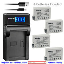 Kastar Battery LCD Charger for Canon LP-E8 LC-E8 & Canon EOS Rebel T5i Camera
