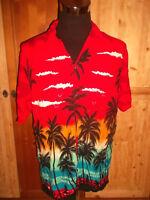 vintage 80´s Hawaii Hemd oldschool shirt aus Viskose surfer t-shirt 90s surf L