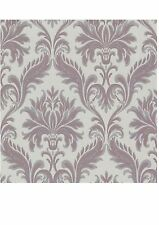 Fine Decor Olympia Grey/Purple Damask Orpheus Wallpaper (PK00201)