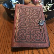 """Oberon Bold Celtic Wine Red 6"""" X 9"""" Leather Journal NEW"""