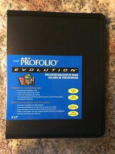 Itoya Evolution Portfolio, book bound album, photos up to 5x7, black