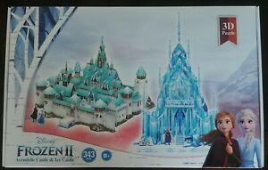 🌟NEW🌟 Disney Frozen II Arendelle Castle & Ice Castle 3D Puzzle  (343 pcs) 👀