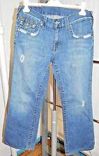 True Religion Men's BILLY Distressed Denim Jeans Size 32 x 33