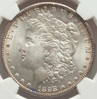 GEM QUALITY SILVER NGC Certified MS65 Morgan Silver Dollars 1898-O SOLID WHITE