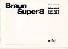 BRAUN - Braun Super 8 Nizo 801 561 481 - Gebrauchsanleitung - B3825