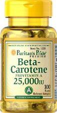 Beta Caroteno *** gigante 100 cápsulas 25000 UI *** GASTOS DE ENVÍO GRATIS