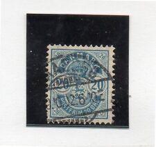 Dinamarca Valor dentado 12 1/2 x 13 del año 1882-95 (DH-153)