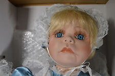 "NIB 23"" Bisque Porcelain Doll MARISSA Jan Wright Designer Cute Girl w/ Baby"