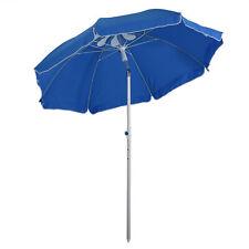 Sonnenschirm Strandschirm Kippfunktion Sonnenschutz verstellbar Blau