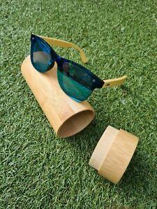 Bamboo Sunglasses Polarised Uv400 with wooden bamboo case