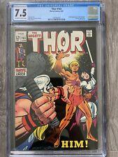 Thor 165 CGC 7.5 1st Full Appearance Of Adam Warlock Unpressed