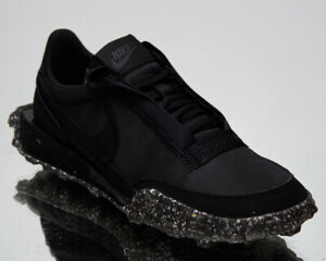 Nike Waffle Racer Crater Women's Black Athletic Casual Lifestyle Sneakers Shoes