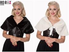Banned 1920s 1950s Great Gatsby Wedding Party Vintage Faux Fur Shrug Shawl Wrap