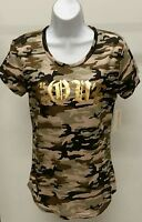 NWT Bobbie Brooks Women's Multi-Color Camouflage Short Sleeve Top Shirt Size: S