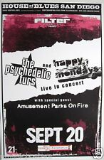 Psychedelic Furs 2009 San Diego Concert Tour Poster