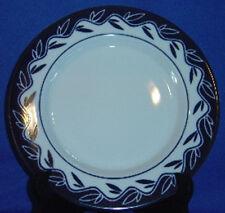 Dansk Allegro Blue Accent Salad Plate 2-Part Leaves On Wavy Ring Sri Lanka