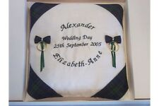 Personalised Tartan Wedding Ring Cushion in presentation box - Blackwatch
