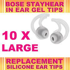 10x SILICONE GRANDI EAR GEL suggerimenti per BOSE Stayhear Earphone Cuffie (interni Canal)