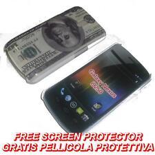 Pellicola + custodia BACK cover US DOLLAR per Samsung Galaxy Nexus I9250 (H5)