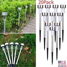20PCS Solar Stainless Steel LED Lawn Lamp Garden Outdoor Landscape Pathway Light