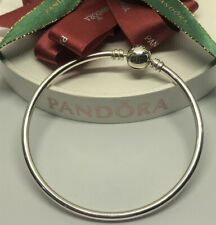 Pandora Moments Silver Bangle 19cm #590713 Authentic Ale 925 Genuine
