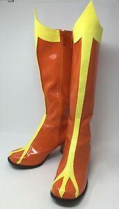 Orange Yellow Wonder Woman Super Hero Boots Cosplay Costume Theater Anime Sz 10