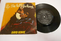 "DAVID BOWIE - UP THE HILL BACKWARDS - 7"" VINYL SINGLE P/S 1981 RCA BOW 9 EX"