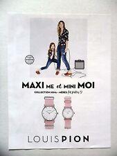 PUBLICITE-ADVERTISING :  LOUIS PION Collection Nina-Mères 2016 Montres,Swarovski