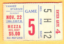 11/22/64 STEELERS/GIANTS FOOTBALL TICKET STUB