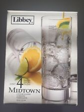 Libbey Midtown Pack of 4 Glasses 16 oz 473 mL Juice Cocktail Free Shipping