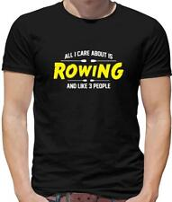 All I Care About Is Rowing Mens T-Shirt - Row - Rower - Boat - Kayak - Olympics