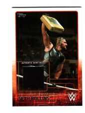 WWE Seth Rollins 2015 Topps Event Used Shirt Relic Card Black