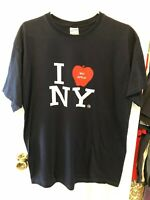 I Love New York Navy Blue Shirt XL Extra Large Jerzees The Big Apple