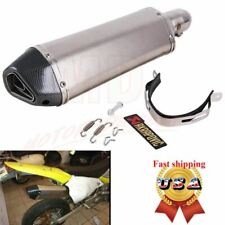 Universal Motorcycle Bike Exhaust Muffler Pipe w/ DB Killer Slip On 38mm~51mm US