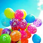 12 pulgadas Globos Látex Con Estampado Números Fiesta Cumpleaños 10 Piezas