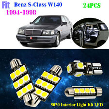 24P 5050 LED HID White 6K Interior Light Kit Fit For 1994-1998 Benz S-Class W140