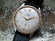 1940's Oversize 35mm Steel and Gold Rolex Precision 4517 Gents Vintage Watch