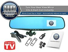 Official Hd Mirror Cam – As Seen on Tv Dash Cam 350°, Motion Detection, Hd 720P