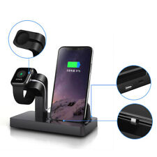 AU Charger Dock Stand Bracket 2in1 For Apple iWatch 1/2/3/4 iPhone 8 X XR XS Max