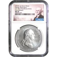 John Adams 1 oz Silver Presidential Medal NGC MS70 ER SKU55026 1797-2018 U.S