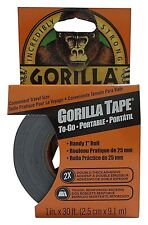 Gorilla Tape To-Go, Black (FAST & FREE SHIPPING)