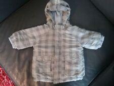Parka bébé garçon à capuche gris  3 mois /60 cm  TOUT COMPTE FAIT Excellent état