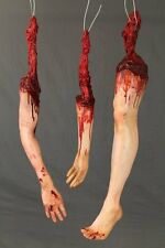 Dangling Bloody Severed Body Part Assortment - Haunted House Halloween Prop