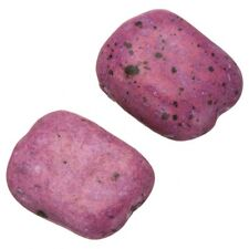 Ceramic Rectangle Baby Pink Large Pebble Beads 30mm Pack of 2 (B73/3)